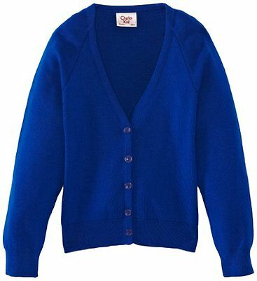 Blu (Royal Blue) (TG. C32 IN- UK) Charles Kirk Coolflow - Cardigan, unisex, Blu
