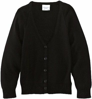 Nero (Black) (TG. C28 IN- UK) Charles Kirk Coolflow - Cardigan, unisex, Nero (Bl