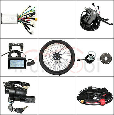 "36V 250W E-Bike Conversion Kit with LCD Display 14""-29"" Front or Rear Wheel Kits"