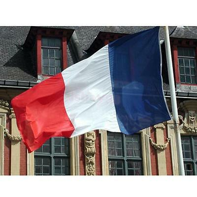 Large FRANCE FRENCH NATIONAL FLAG EYELETS Polyester Banner Hanging 3ft X 5ft