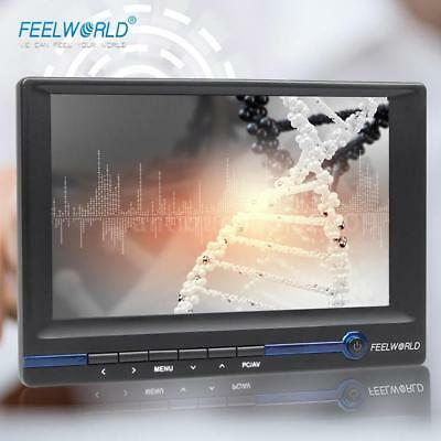 "FEELWORLD 7"" TFT LCD HD Monitor w/ HDMI VGA AV Input for Video DSLR Camera U4D1"