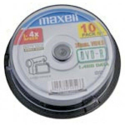 Maxell - 8cm Camcorder DVD-R 60min 10pcs Spindle Pack