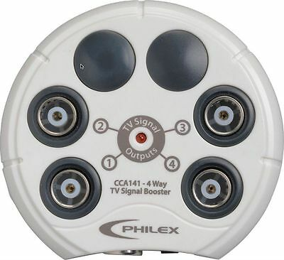Philex 4 Way Aerial Signal Booster Amplifier