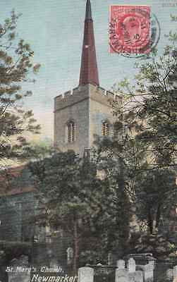 St Mary's Church, Newnarket posted 1911