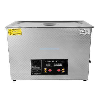 30L Digital Ultrasonic Cleaner Heater Heating Timer Cleaning+cover +basket+Drain