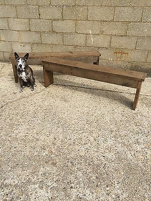 A Pair Of Rustic Up-Cycled Benches