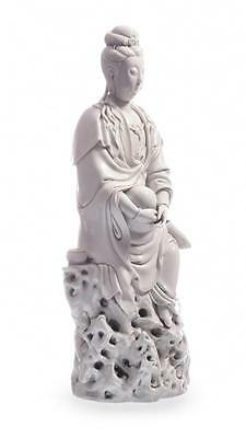 """A VERY FINE BLANC-DE-CHINE FIGURE OF GUANYIN WITH IMPRESSED """"HE CHAOZO... Lot 38"""