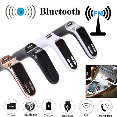 FM Radio Modulator Transmitter Wireless Auto LCD MP3 USB SD Aux MMC For iPhone 7