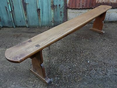 Victorian Gothic Church Style Handmade Reclaimed Antique Solid Oak Bench Seat