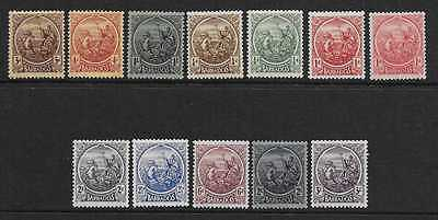 BARBADOS  SG 213/25 & 227/8  1921/4 SET  BOTH SHADES OF 1d   FINE MOUNTED MINT