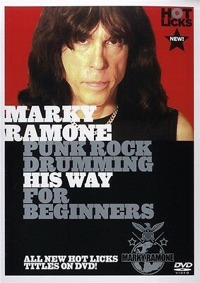 Marky Ramone Punk Rock Drumming His Way For Beginners Hot Licks Dvd Hot627 Drum
