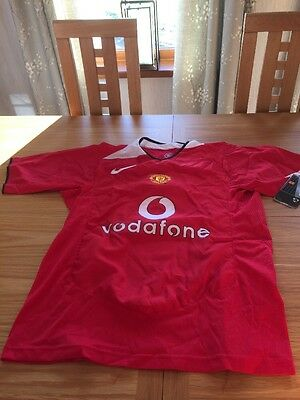 New Manchester united Shirt Medium Signed By Heinze