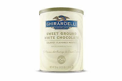 Ghirardelli Chocolate Sweet Ground White Chocolate Flavor Beverage Mix 50-Ounce