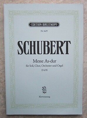 Mass No.5 in Ab D678 Vocal Score by Schubert published Breitkopf *NEW*