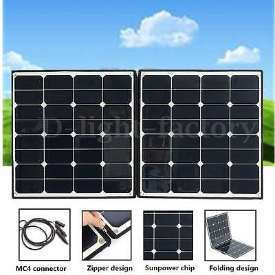 100W Portable Folding Solar Panel Battery Charger For Camping Boat Caravan Home