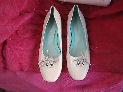womens size 40/9 pink leather ANNA VANILLA shoes 2cm heel vgc