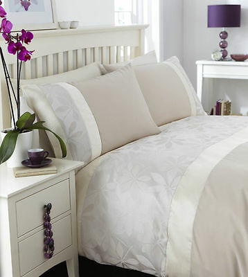 Catherine Lansfield IVORY Duvet Quilt Cover Set Natural ANY SIZE £14.99!!!!!