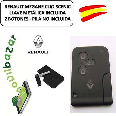 Key Housing Card Renault Clio Megane Scenic 3 Three Buttons With Key
