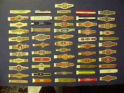 112+Old Cigar Band Labels Vintage Lot=56 Different = Real Nice =