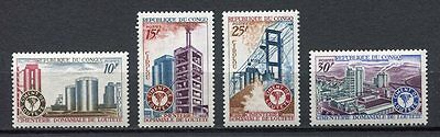 38009) CONGO REP. 1969 MNH** Ciment industry 4v