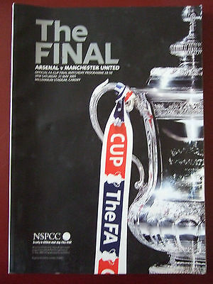 Fa Cup Final Programme Arsenal V Manchester United 2005
