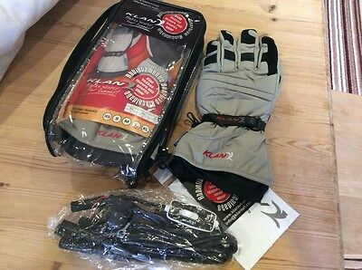 Heated motorcycle gloves Klan size large new