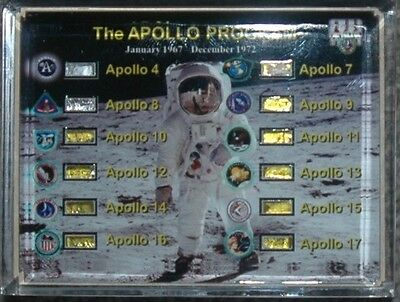 Flown all 12 Apollo Missions 4-17 Kapton/Thermofoil Collection