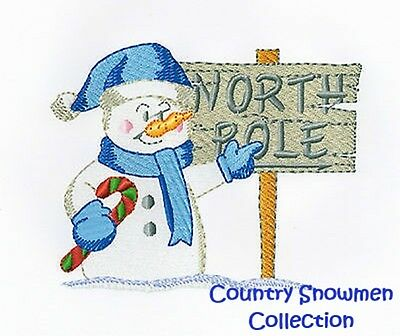 Country Snowmen Collection - Machine Embroidery Designs On Cd
