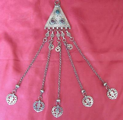 19C. Antique Turkish Ottoman Islamic Silver Wedding Jewelry Pendant