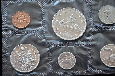 """Canada, Original 6 Coin 1962 Silver Royal Mint Proof like Set with"""" Mint Luster"""""""