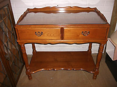 Two Drawer Light Mahogany Dressing Table
