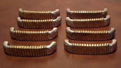 Heavy Brass and Silver Drawer Pulls Set of 8