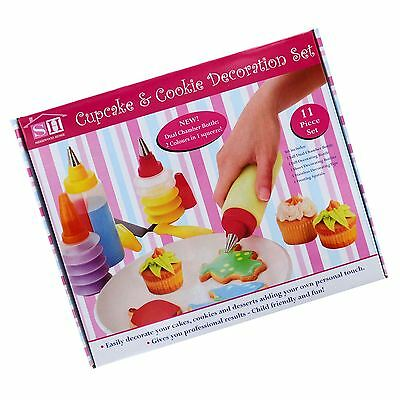 New Cupcake And Cookie Decoration Set 11Pc Desert Icing Frosting Tools