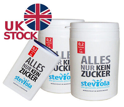Steviola Stevia Sweetener 300 - 1000 tablets ONLY 0,2 Calories No Sugar