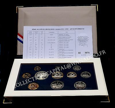 Coffret BE France 1993 Comme Neuf MDP Certificat
