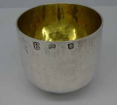 Rare Antique George Ii Sterling Silver Tumbler Cup - London 1725
