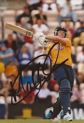 HAMPSHIRE: MATT COLES SIGNED 6x4 ACTION PHOTO+COA