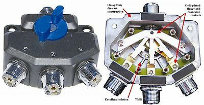 MFJ 2703N -  Rhinos 3 position antenna switch with N connectors - New