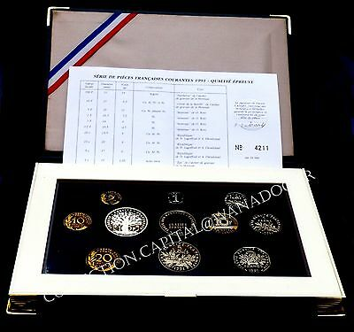 Coffret BE France 1991 RARE COMPLET Comme Neuf MDP Certificat