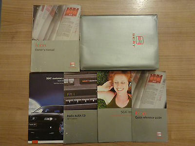 Seat Leon Owners Handbook/Manual and Wallet 00-05