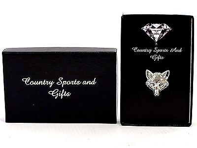 Fox Vixen Renard Charlie Head Lapel Hat Pin Pewter Badge  Hunting Hounds