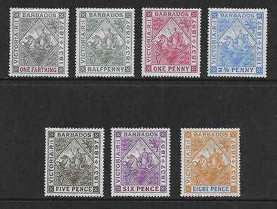 BARBADOS  SG 116/22  1897/8 DIAMOND JUBILEE SET TO 8d  FINE MOUNTED MINT