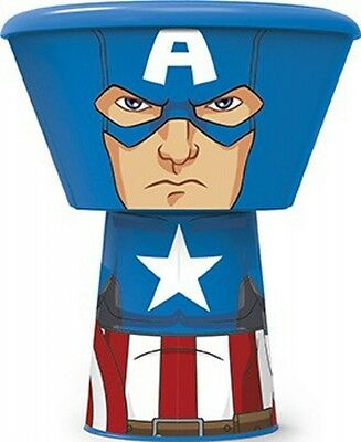 'Captain America' Stacking 3 Piece Meal Set Dinner Brand New Gift