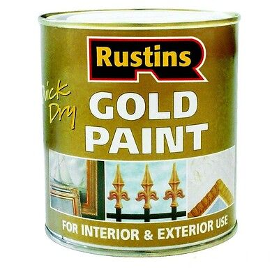 Rustins Quick Drying Gold Paint 250ml