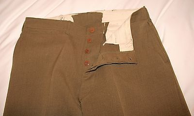 Original Ww2 Us Army Officer Mustard Twill Trousers - Excellent !