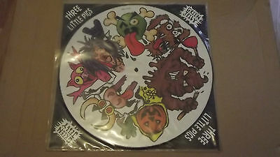 """Green Jelly, Three Little Pigs. Rare 12"""" Picture Disc. Complete. Uk Release"""