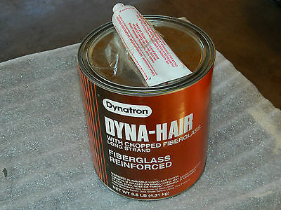 (1) Brand New Gallon Dynatron Bondo 474 Dyna-Hair Long Strand W/ Cream Hardener
