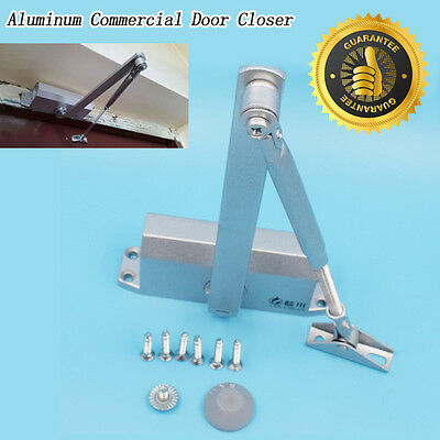 T90 25-45KG Aluminum Commercial Door Closer Two Independent Valves Control Newly
