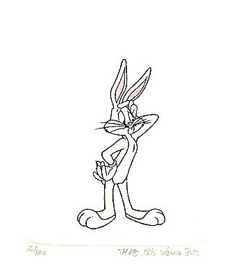 Bugs Bunny Painted Ltd Ed Etching