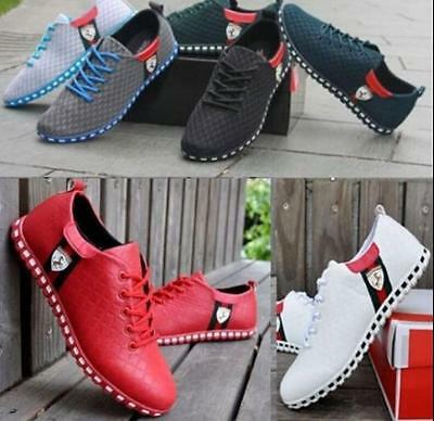 Fashion New Men's Flats Casual Mesh Sneakers Breathable Loafer Shoes